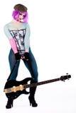 Harajuku Girl And Her Guitar Stock Photos