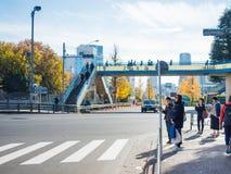 Harajuku, Japón - en diciembre de 2016: viajero y peop japonés Fotografía de archivo libre de regalías