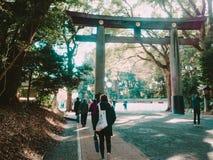 Harajuku, Japonia - na Grudniu 2016: podróżnika i japończyka peop Obrazy Royalty Free
