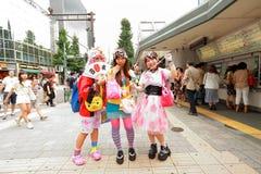 Harajuku mode fotografering för bildbyråer