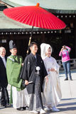 HARAJUKU, TOKIO †'LISTOPAD 21: Japoński ślubny świętowanie Obrazy Stock