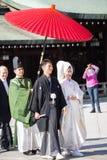 HARAJUKU,TOKYO – NOVEMBER 21: Japanese wedding Celebration of Stock Images