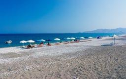 Haraki海滩罗得岛 免版税库存照片