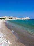 Haraki strand Rhodes Arkivbild