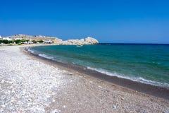 Haraki strand Rhodes Royaltyfri Fotografi