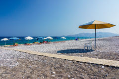 Haraki strand Rhodes Arkivbilder