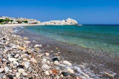 Haraki strand Rhodes Arkivfoton
