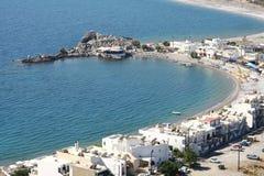 Haraki town in Rhodes island Stock Photography