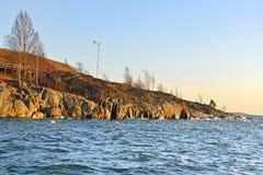 Harakka海岛在赫尔辛基 免版税库存照片