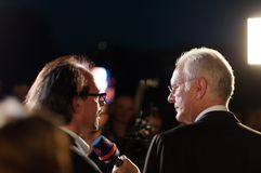 Harald Schmidt interviews Christoph Sonntag Stock Photos