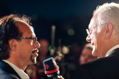 Harald Schmidt interviews Christoph Sonntag Stock Photo