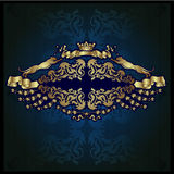 Haraldic Luxury Label Silver Background Banner Stock Image