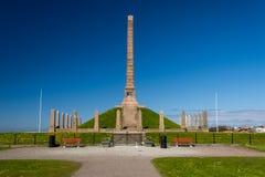 Haraldshaugen北欧海盗方尖碑纪念碑 免版税库存照片