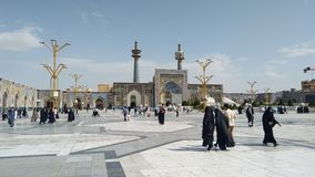 Haram complex and the Imam Reza Shrine. Mashhad, Iran, may 13, 2018: Haram complex and the Imam Reza Shrine, the largest mosque in the world by dimension in the Royalty Free Stock Photo