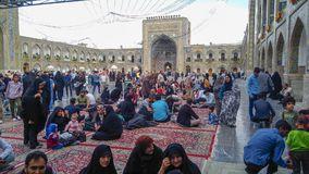 Haram complex and the Imam Reza Shrine. Mashhad, Iran, may 13, 2018: Haram complex and the Imam Reza Shrine, the largest mosque in the world by dimension in the Stock Images