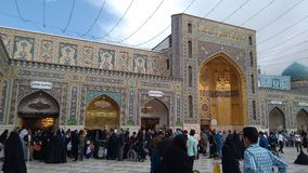 Haram complex and the Imam Reza Shrine. Mashhad, Iran, may 13, 2018: Haram complex and the Imam Reza Shrine, the largest mosque in the world by dimension in the Stock Photos