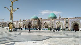 Haram complex and the Imam Reza Shrine. Mashhad, Iran, may 13, 2018: Haram complex and the Imam Reza Shrine, the largest mosque in the world by dimension in the Royalty Free Stock Photography