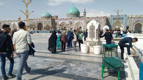 Haram complex and the Imam Reza Shrine. Mashhad, Iran, may 13, 2018: Haram complex and the Imam Reza Shrine, the largest mosque in the world by dimension in the Royalty Free Stock Images