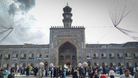 Haram complex and the Imam Reza Shrine. Mashhad, Iran, may 13, 2018: Haram complex and the Imam Reza Shrine, the largest mosque in the world by dimension in the Stock Photography