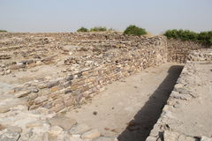Harappa Civilization. Water harvesting system and water collection inlet of the tank at ancient Harappa civilization city Dholavira Royalty Free Stock Images
