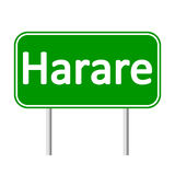Harare road sign. Royalty Free Stock Images