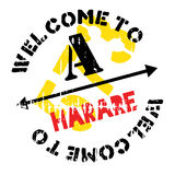 Harare stamp rubber grunge Royalty Free Stock Photography