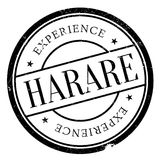 Harare stamp rubber grunge Stock Image