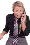 Harassed call centre operator Royalty Free Stock Photos