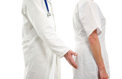 Harassment in hospital environment Stock Photo