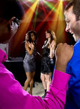Harassment at Nightclub Stock Image