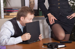 Harassment in office Royalty Free Stock Photo