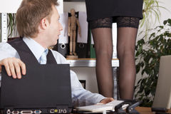 Harassment in the workplace Stock Images