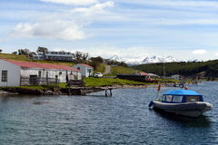 Harberton estate is the oldest farm of Tierra del Fuego and an important historical monument of the region. Stock Photography