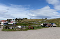 Harberton estate is the oldest farm of Tierra del Fuego and an important historical monument of the region. HARBERTON, ARGENTINA - NOVEMBER 16,2014:Harberton stock photos