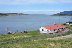 Harberton estate is the oldest farm of Tierra del Fuego and an important historical monument of the region. Stock Photo