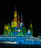 Harbin Castle Ice Sculpture Stock Image
