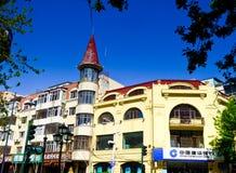 Harbin Central Avenue European style architecture royalty free stock photos