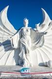 Harbin, China - enero de 2015: Escultura de nieve internacional Art Expo Imágenes de archivo libres de regalías