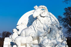 Harbin, China - enero de 2015: Escultura de nieve internacional Art Expo Fotos de archivo