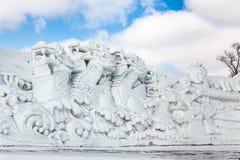 Harbin, China - febrero de 2013: Escultura de nieve internacional Art Expo Fotos de archivo