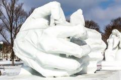 Harbin, China - febrero de 2013: Escultura de nieve internacional Art Expo Fotografía de archivo
