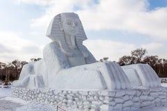 Harbin, China - febrero de 2013: Escultura de nieve internacional Art Expo Imagenes de archivo