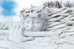 Harbin, China - February 2013: International Snow Sculpture Art Expo. Harbin, China - February 2013: Snow sculptures in the 25th China Harbin Sun Island Stock Photo