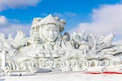 Harbin, China - February 2013: International Snow Sculpture Art Expo Stock Image