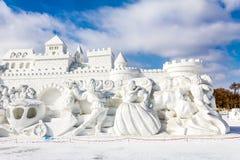 Harbin, China - February 2013: International Snow Sculpture Art Expo Stock Photo