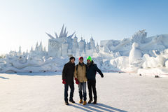 Harbin, China - January 2015: International Snow Sculpture Art Expo Royalty Free Stock Photography