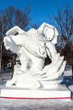 Harbin, China - January 2015: International Snow Sculpture Art Expo. Harbin, China - January 2015: Snow sculptures in the 27th China Harbin Sun Island Stock Photo