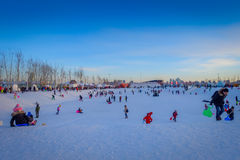 Harbin, Chine - 9 février 2017 : La glace internationale de Harbin et le festival de sculpture sur neige est un festival annuel d Photos stock