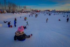 Harbin, Chine - 9 février 2017 : La glace internationale de Harbin et le festival de sculpture sur neige est un festival annuel d Images libres de droits
