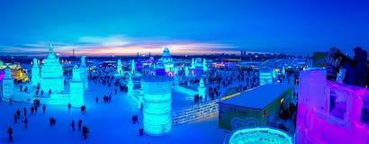 Harbin, Chine - 9 février 2017 : La glace internationale de Harbin et le festival de sculpture sur neige est un festival annuel d Photographie stock